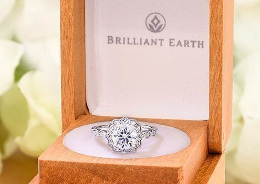 Reina Diamond Engagement Ring in Brilliant Earth ring box