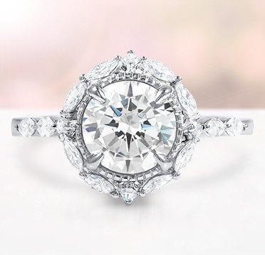 custom distinctive halo diamond ring custom distinctive halo diamond ring - Custom Wedding Ring