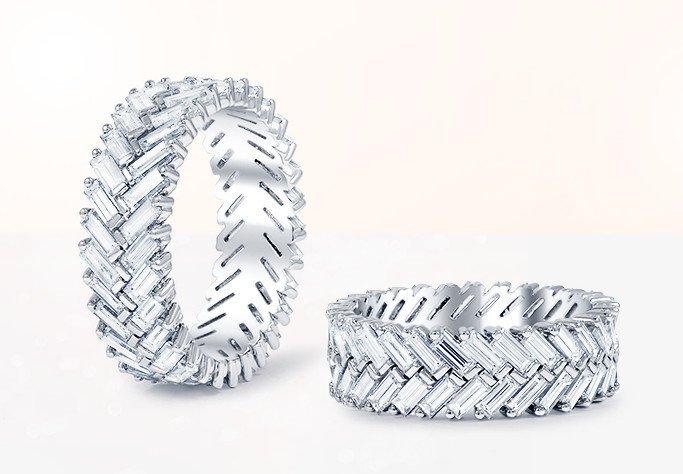 custom wedding rings with baguettes - Custom Wedding Ring
