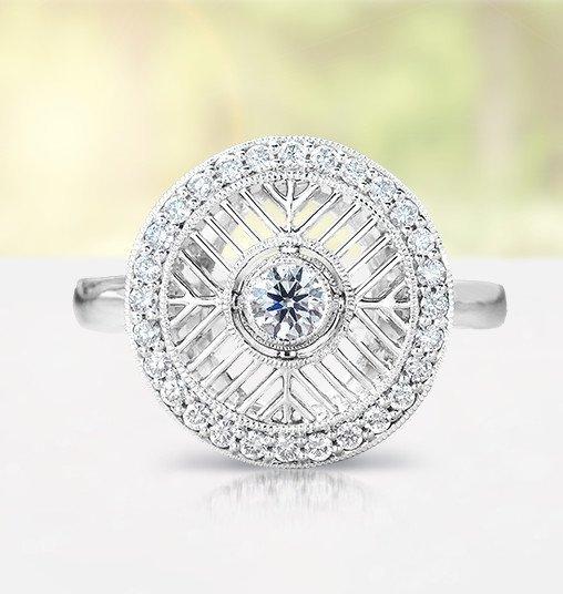 derrylin non traditional diamond ring - Custom Wedding Rings