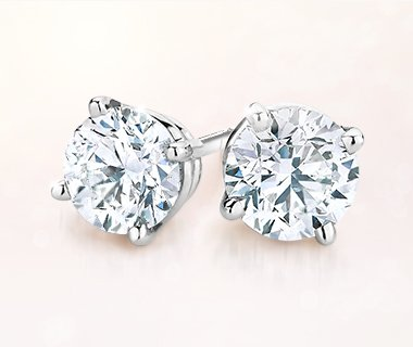 tw solitaire sterling silver in earrings carat stud diamond p round