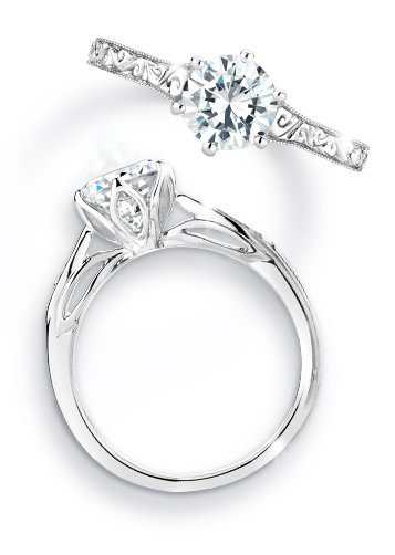 engagement ring with surprise diamond accents engagement ring with surprise diamond accents - Wedding Ring Diamond
