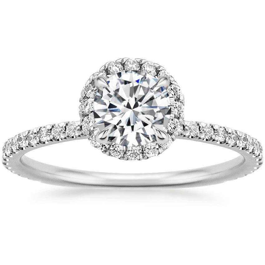 Engagement rings brilliant earth diamond rings for Halo engagement rings with wedding bands