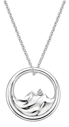 Mountain Range Diamond-pendant