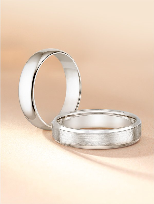 Classic men's wedding bands