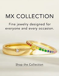 Stack of lustrous yellow gold diamond and gemstone rings for everyone
