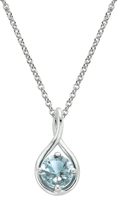 Aquamarine Twist Pendant
