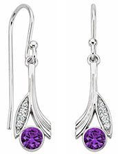 Jasmine Amethyst and Diamond Earrings