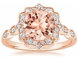 Morganite Cadenza Halo Ring