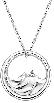 Mountain Range Diamond Pendant