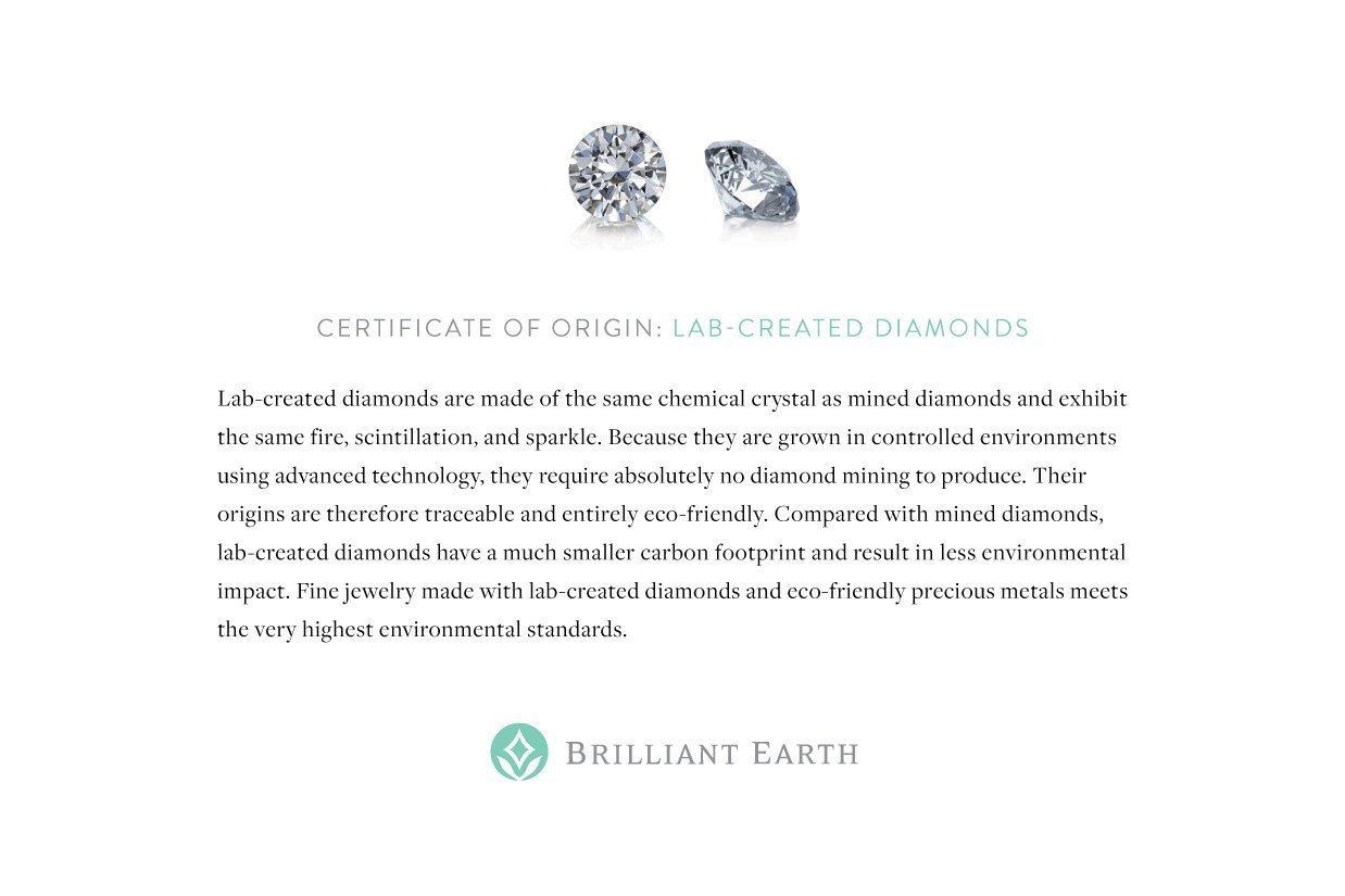 Preset 18k white gold petite shared prong lab created diamond ring origin card certification xflitez Images